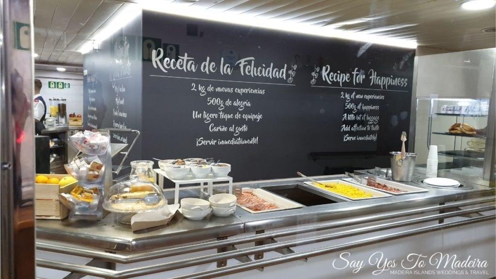 Restauracja/bufet na promie na Madere i Wyspy Kanaryjskie