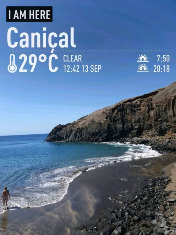 Swimming in Madeira in September. Autumn weather in Madeira. September weather Canical