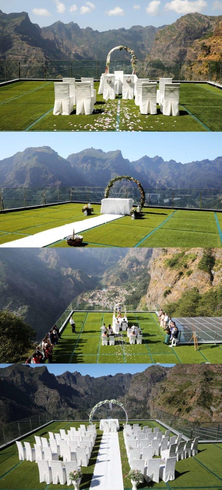 Niesamowite miejsce na ślub w górach - ślub w górach za granicą - ślub na Maderze - slub z widokiem na góry
