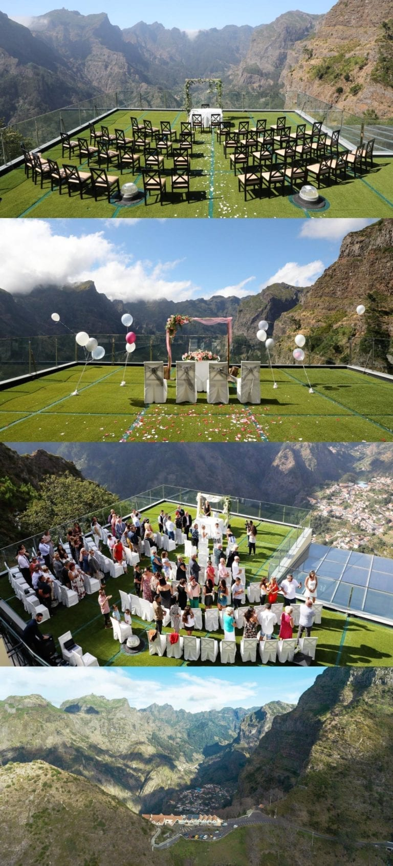 Ślub w plenerze za granicą - ślub w Portugalii - ślub Madera - ślub w górach