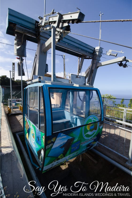 Cable Cars Madeira: Teleferico at Faja da Rocha do Navio in Santana, Madeira. Attractions in Santana area, Madeira.