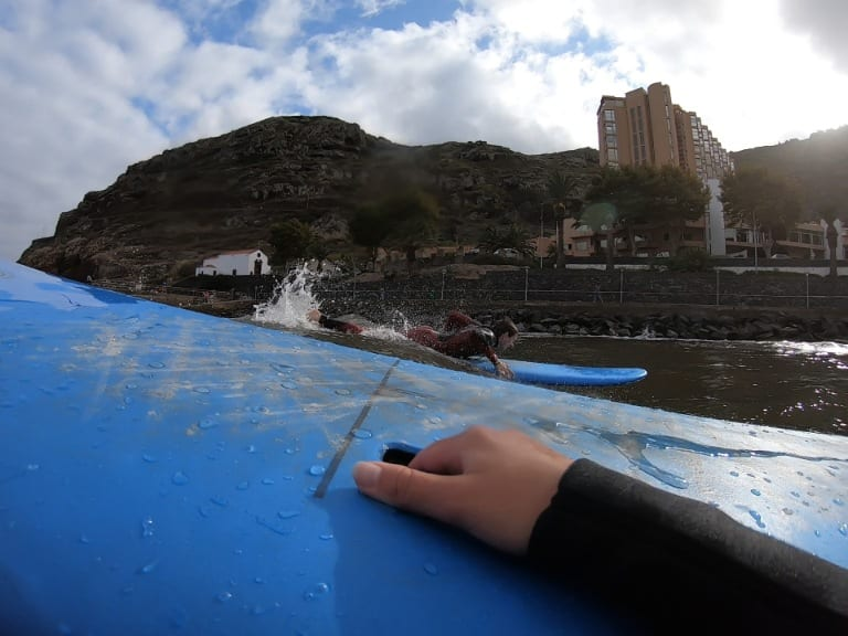 Surfing lessons Madeira Island: Surfing for beginners on Madeira Island, Portugal. Aroundfreedom Surf School review