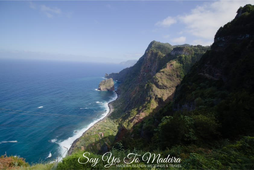 Madeira attractions: Amazing Faja da Rocha do Navio in Santana, Madeira.