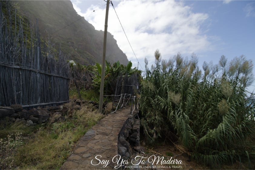 Hidden gems Madeira Island: Secluded Faja da Rocha do Navio in Santana, Madeira. Interesting and beautiful places to visit in Santana area, Madeira.
