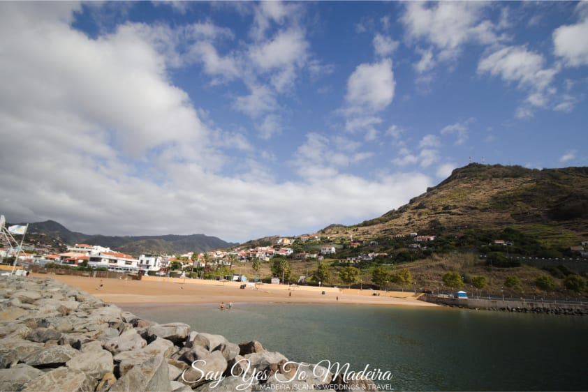 Swimming in Madeira Island - Machico beach