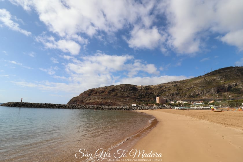 Sandy beaches in Madeira Island - Machico beach