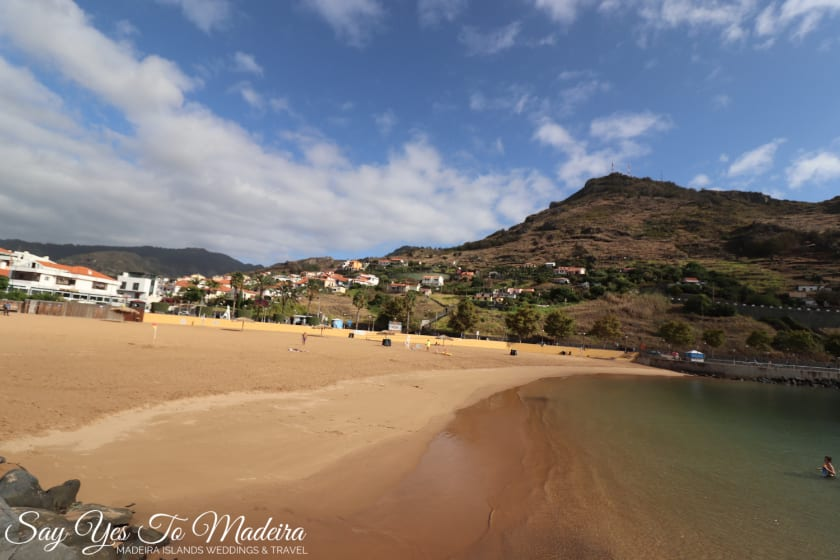 Madeira Island sandy beaches - Machico beach
