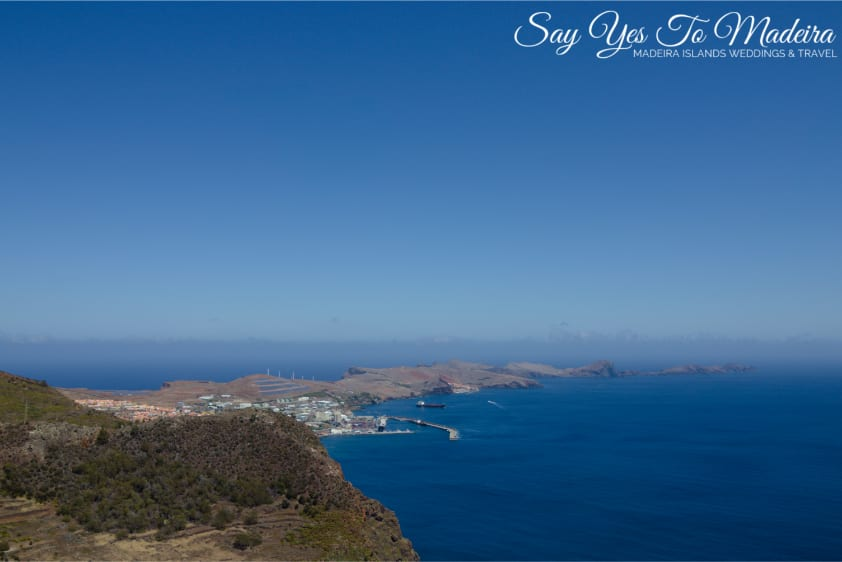 Best viewpoints in Madeira - Pico do Facho viewpoint in Machico. View on Ponta de Sao Lourenco