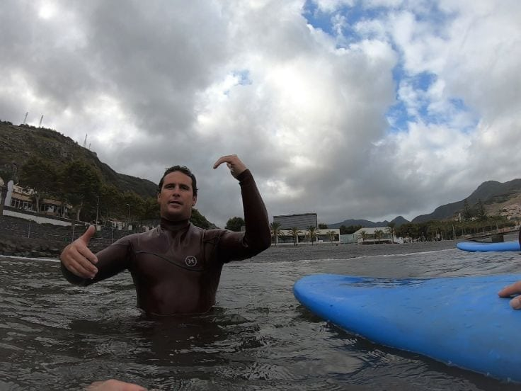 Surfing Madeira: Surfing course for beginners Madeira Island, Portugal. Aroundfreedom Surf School review.