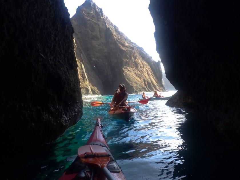 Things to do on Porto Santo: Porto Santo (Madeira Islands) kayak cave tour and kayak rental.