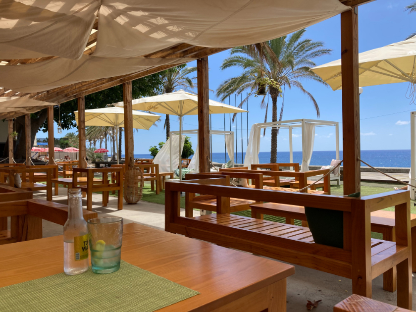 Instagrammable beach bars Madeira - Mentha Madalena do Mar