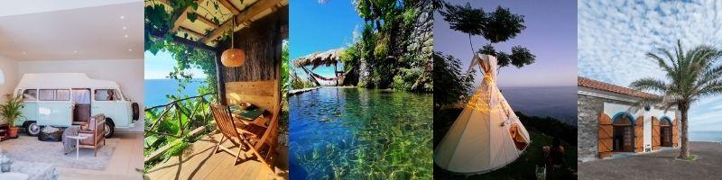 Najlepsze airbnb i kwatery poza miastem na Maderze - namioty, chatki, tipi, kampery na wynajem Madera